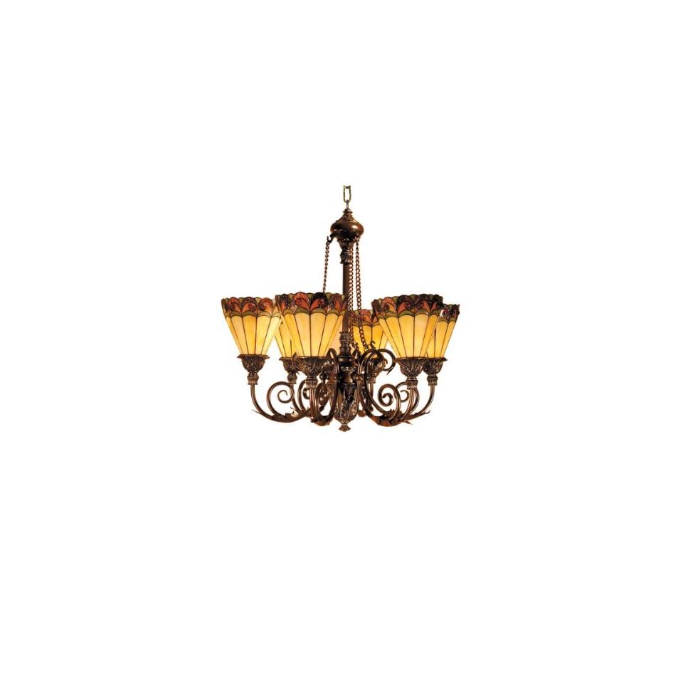 Dale Tiffany TH100935 Ashford Hanging Light, Mica Bronze and Art Glass Shade