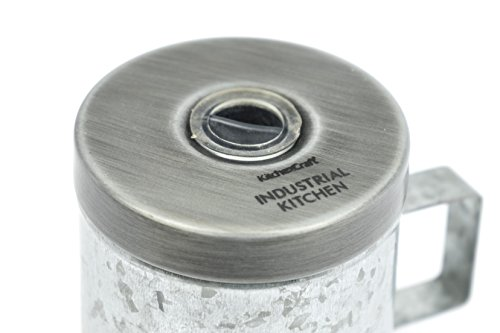 KitchenCraft - Pepe in acciaio galvanizzato, stile vintage, 10 cm 2