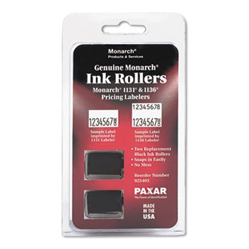MONARCH MARKING 925403 925403 Replacement Ink Rollers, Black, 2/Pack