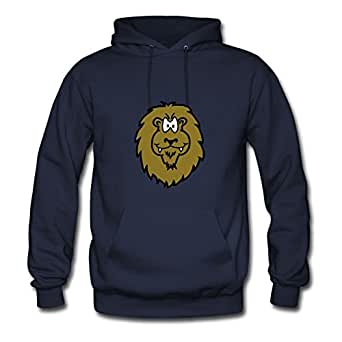 Round-collarclothing Women Animal Head: Why I Am So Happy, So Happy .. Printed Hoodies (x-large,navy)