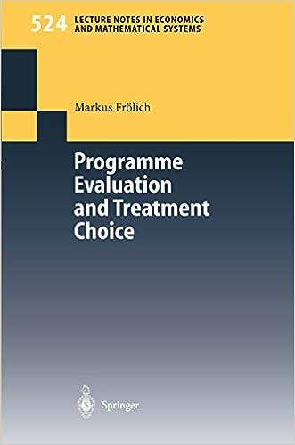 Amazon.com: Programme Evaluation and Treatment Choice ...
