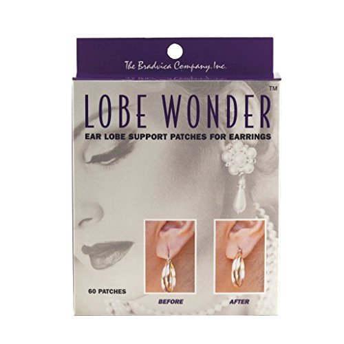 Lobe Miracle Earring Support Patches, 60-Count (Pack of 4)