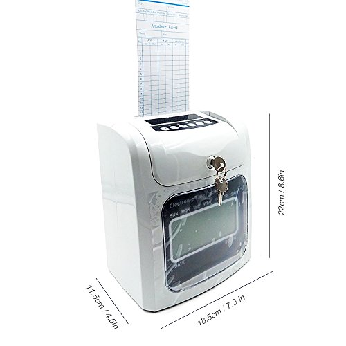 NATAMO Time Clock Bundle with 50-Card & Ribbon Cartridge, Electric