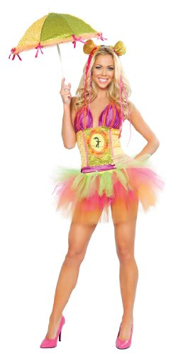 Deluxe Sexy Rainbow Clown Sexy Costumes - Deluxe Rainbow Clown