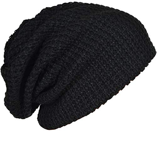 Headwear For Dreadlocks - FORBUSITE Mens Slouchy Long Oversized Beanie