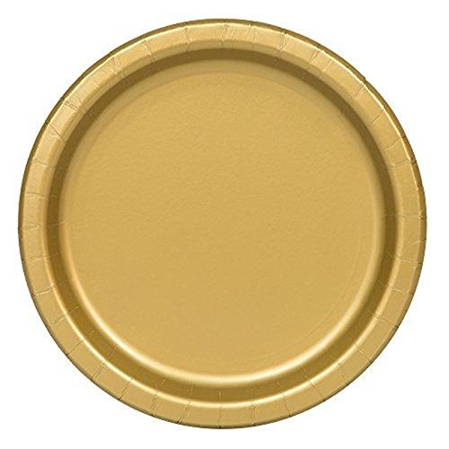 [New Gold Paper Plates, 16 Pcs.] (Last Minute Halloween Costumes For Babies)