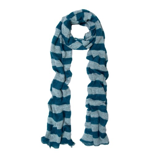 Long Soft Knit (Premium Long Soft Knit Striped Scarf, Blue)