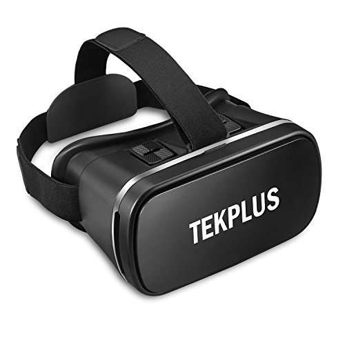 VR Headset,TEKPLUS Virtual Reality Headset 3D VR Goggles Glasses,Compatible with 4.0 inch - 6.0 inch IOS Android Smartphones for 3D Movies Video and Games