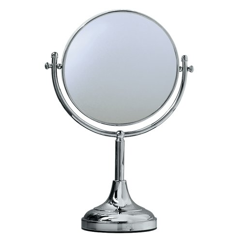 Gatco 1440C 15-Inch by 8-Inch Magnified Table Mirror, (Lamps Plus Chrome Mirror)
