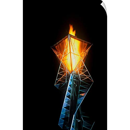 CANVAS ON DEMAND Panoramic Images Wall Peel Wall Art Print Entitled Olympic Torch at Night During The 2002 Winter Olympics, Salt Lake City, UT 16