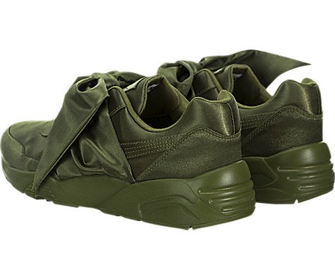 PUMA 365054-04 Women's Bow Sneaker Fenty by Rihanna Olive Branch/Olive Branch Athletic Shoe