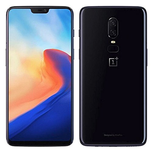 "OnePlus 6 A6000 64GB/6GB Mirror Black - Dual Back Cameras, Face & Fingerprint Identification, 6.28"", Android 8.1 - International Version - No warranty in the USA - GSM ONLY, NO CDMA"