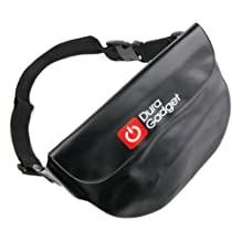 DURAGADGET Black 'Travel' Digital Camera Waterproof Waist Bag / Carrier Pouch for Contour Roam 2 & +2