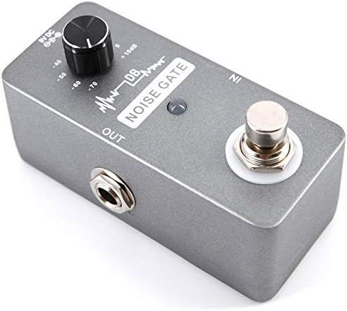 ギターエフェクター 高感度ノイズゲートコントローラー付きポータブルギターノイズゲートペダルノイズリダクション用電気ギターノイズゲート ディストーション (Color : Black, Size : Free size)