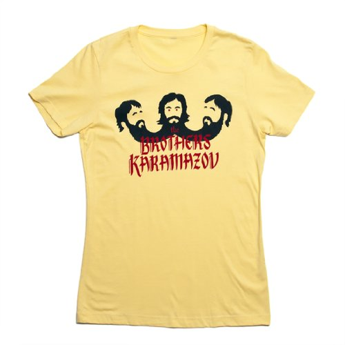 "Price comparison product image ""The Brothers Karamazov"" Women's Slim Fit Literary T-shirt by Out Of Print Clothing (Women's Extra Large)"