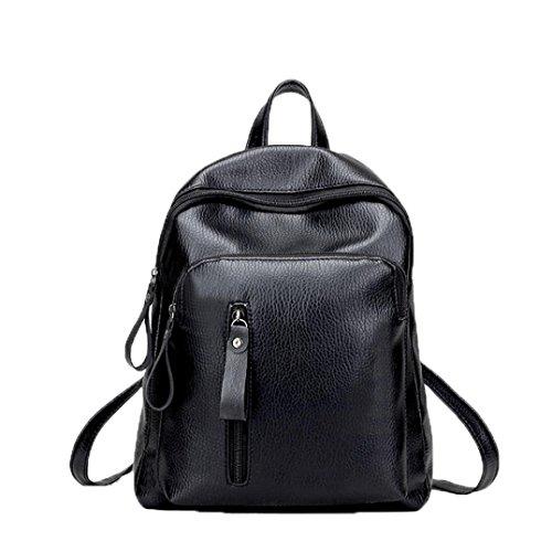 Leather Rolling Camera Bag (2018 Travel Backpack Women Backpack Leisure Student Schoolbag Soft Bag for Women by TOPUNDER)