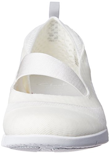 Skipp Clarks Baskets Synthetic Blanc white Tri Femme Basses zwZ54qw