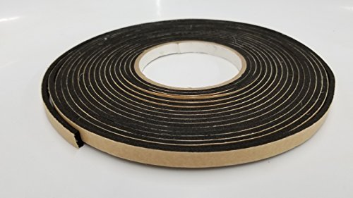 Foam Tape Neoprene Closed Cell Rubber with PSA - Peel and Stick Adhesive  one Side  Weather Stripping, Insulation, Sponge, Gasket - Many Thicknesses