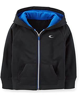 Carter's Boy's Black Hooded Active Jacket (24 Months)