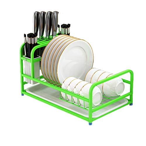 Dish Rack, Kitchen Stainless Steel Drying Rack, Kitchen Storage Rack (Green) by aylkt