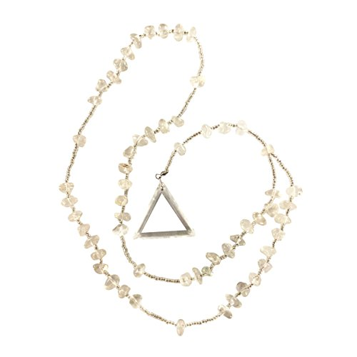 Clear Quartz Rosary Crystal Clear Miracles Healing Prayer Necklace Triangle Pendant Powerful Unique Gift