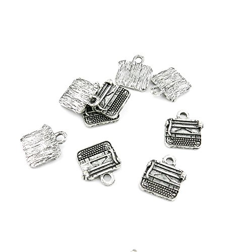 370 Pieces Antique Silver Fashion Jewelry Making Charms Findings BHXC0 Typewriter Typer Supplies Craft Vintage Bulk Retro DIY Lots Repair (Vintage Typewriter Repair)