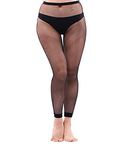 Abberrki Womens Sexy Fishnet Footless Tights Plus Size Net Footless Leggings (Footless # 4)