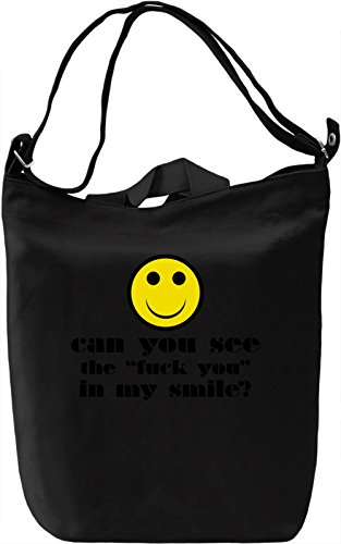 Have a nice day smile Borsa Giornaliera Canvas Canvas Day Bag| 100% Premium Cotton Canvas| DTG Printing|