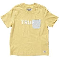 True Religion Little Boys Colorblock Tee (Toddler/Kid) - Golden Haze - XS (2/3)