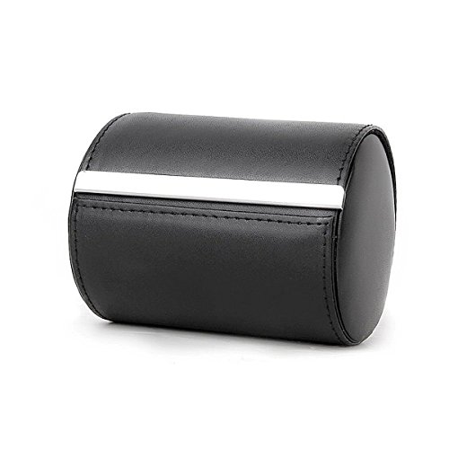 Neck Tie Box BuiBui Formal Cylinder Style Men's Classy Necktie Travel Storage Case (Black)