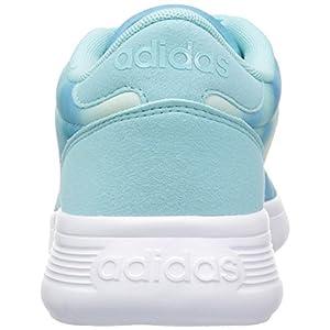 adidas NEO Women's Lite Racer W Running Shoe, Clear Aqua/Ocean/White, 10 M US
