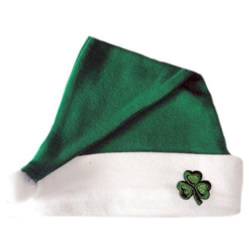 Jacqui's Unisex Baby Irish Santa Hat With Shamrock, 12-24 Months Irish Santa Hat