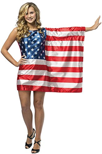 [Mememall Fashion USA Flag Dress Patriotic Freedom Teen Costume] (Usa Flag Dress Teen Costumes)