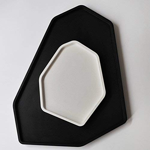 Concrete Plate Silicone molds Cement Tray Moulds Candle Holder molds  Handmade Tray molds - (Color: Small)