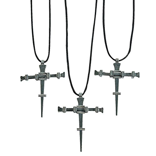 Nail Cross Necklaces 1 Pack 12