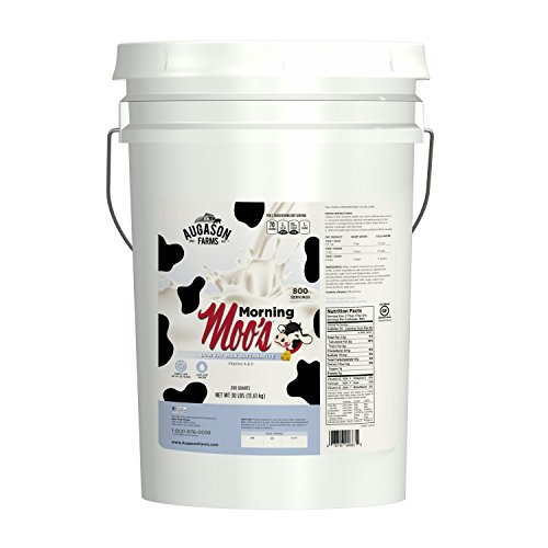 Augason Farms Morning Moo's Low Fat Milk Alternative Emergency Food Storage 30 Pound Pail by Augason Farms