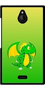Funda para Nokia X2 - Dragón Verde Lindo by Nina Baydur