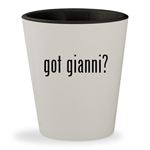 Got Gianni    White Outer   Black Inner Ceramic 1 5Oz Shot Glass