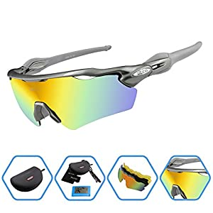 Duco POLARIZED Sports Sunglasses Cycling Glasses With 5 Interchangeable Lenses 0028