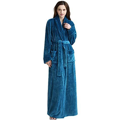 da rosa vestaglia lounge tasche spa M indossa con Blue adulto JK notte flanella Plus abbigliamento Flanella super vestaglia e unisex Dimensioni cintura Luxury L accappatoio accappatoio morbida 6wwOqv8g7