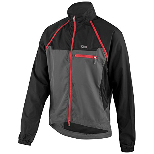 Louis Garneau Electra 2 Jacket Black/Gray/Red, L - Men's