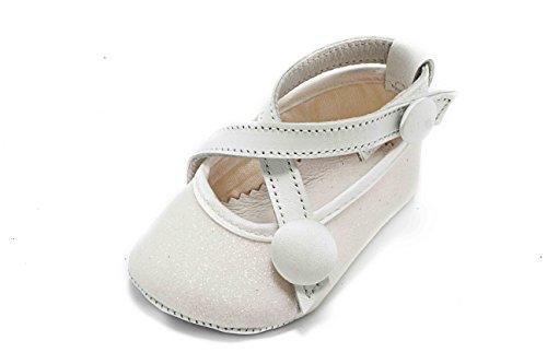 Chaussures Fille pour Bianco Bébé ABA Ballerina Souples Blanc aqtwq5Xn