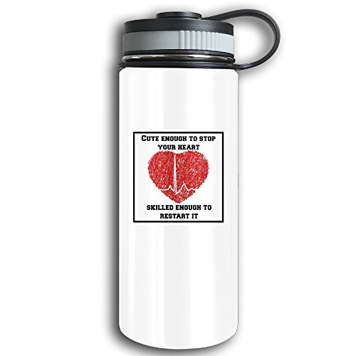 """Ems Humor Medical Humor Stainless Steel Vacuum Funtainer Thermos Cup Leak Proof Simple Modern Girls Thermos Bottle For Hot And Cold Drinks Height 7.8 """"diameter 2.9"""" 18.7oz"""