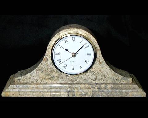 Large Decorative Coral Stone Clock, Traditional Coral 35th Anniversary Gift (Coral Anniversary Gift)