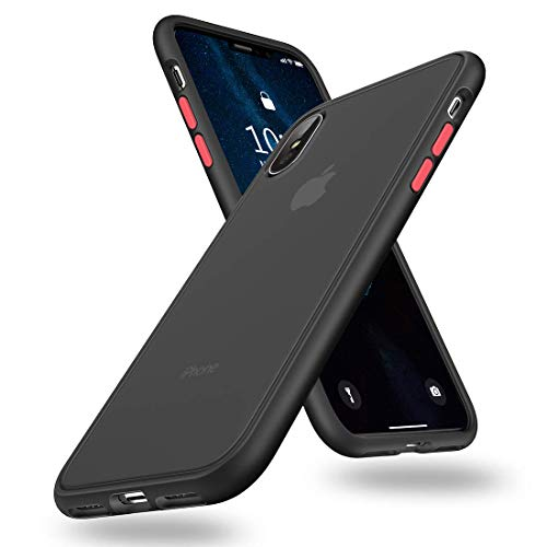 SURPHY Matte iPhone Xs Max Case, Translucent Matte Cover (Shockproof and Anti-Drop Protection) Frosted Case for iPhone Xs Max 6.5 inch, Matte Black