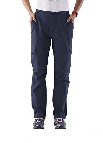 Unitop Womens Quick Dry Water Resistant Cargo Pants Blue 31-32waist/30 Inseam