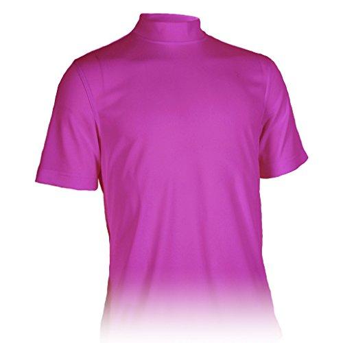 Monterey Club Mens Dry Swing Classic Pique Mock Neck Shirt #3305 (Grape Soda, - Shirt Mock Golf Performance