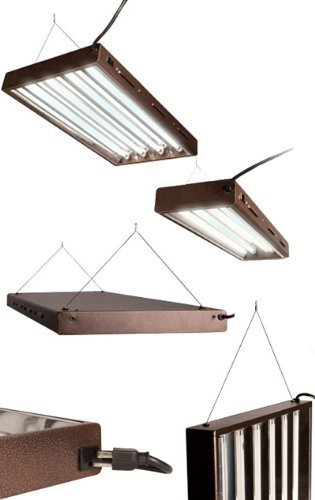 Designer T5 Lamp Fixtures 4' with 8 lamps by Hydrofarm