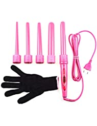 5 Part Interchangeable Hair Curling Iron Machine Hair Curler Multi-size Roller Heat Resistant Glove