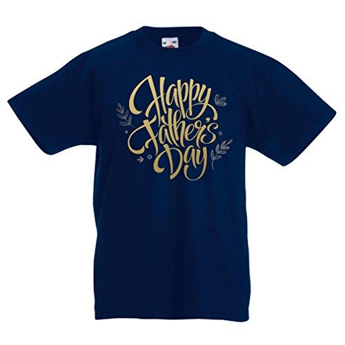 Camisas para niños Feliz día de los Padres - Mejor Regalo de la Esposa, Hijo o Hija (9-11 Years Azul Oscuro Multicolor)